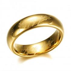 Inel inscriptionat Lord of the Rings - Oțel inoxidabil - Inel Size 8 foto