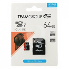 Carduri de memorie, micro sd team 64gb - clasa 10