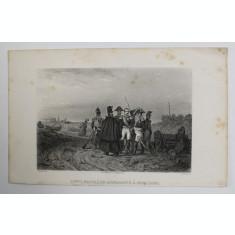 LOUIS NAPOLEON BONAPARTE A BOLOGNE , GRAVURA , ILUSTRATIE DE CARTE , SECOLUL XIX