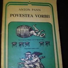 POVESTEA VORBII- ANTON PANN-446 PG-