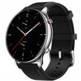 Smartwatch Huami Amazfit GTR 2 Classic, Display AMOLED 1.39inch, Bluetooth, Bratara Piele 47mm, Android/iOS (Negru/Argintiu)
