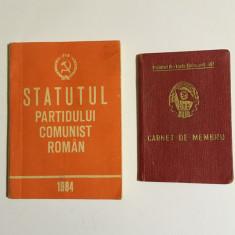 Statutul PCR (1984) + Carnet de membru UTC (1966) - Partidul Comunist Român
