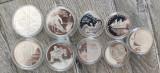 9 monede comemorative din argint, Europa