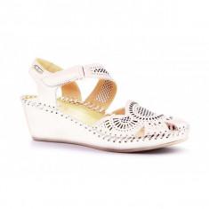 Sandale albe platforma PIKOLINOS piele naturala 943-1860