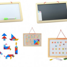 Tablita magnetica pentru scris si desenat cu cifre litere si tangram.