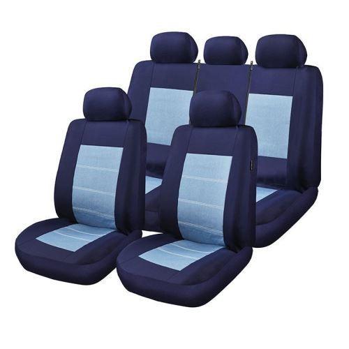Huse Scaune Auto RoGroup Blue Jeans 9 buc