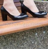 Pantofi dama eleganti din piele Ninna Art A41, 34 - 40, Negru, Cu toc