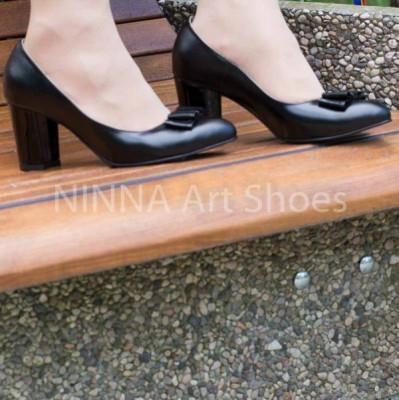 Pantofi dama eleganti din piele Ninna Art A41 foto