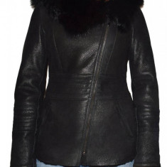 Cojoc dama, din blana naturala, marca Kurban, 7-01-95, negru , marime: M