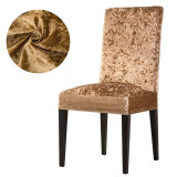 Set 4 huse scaun catifea, Capucino
