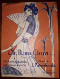 J. PETERSBURSKI - OH, DONA CLARA... (PARTITURA VECHE)