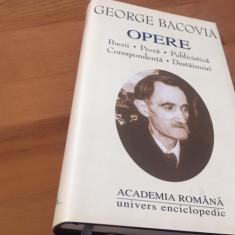 GEORGE BACOVIA, OPERE. ACADEMIA ROMANA( OPERE FUNDAMENTALE) 2001 EDITIE DE LUX