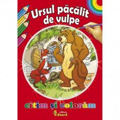 Citim si Coloram Ursul Pacalit De Vulpe - Ion Creanga