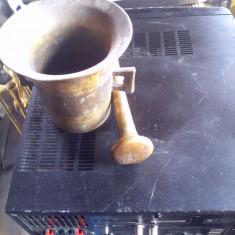 Vechi mojar - piua  bronz masiv