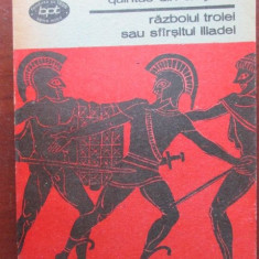Razboiul Troiei sau sfarsitul Iliadei-Quintus din Smyrna