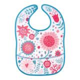 Baveta impermeabila Canpol Babies Flower 9/234, Roz