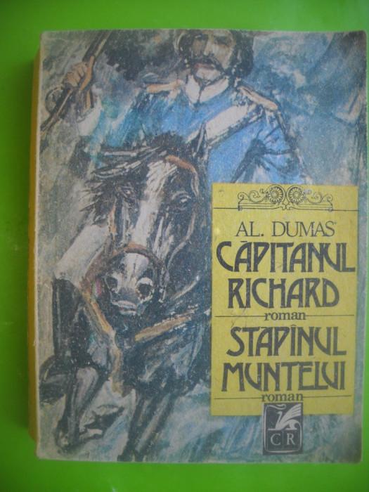 HOPCT CAPITANUL RICHARD/STAPINUL MUNTELUI-AL DUMAS EDIT C ROM 1989 -542   PAGINI