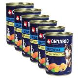 Cumpara ieftin Conservă ONTARIO Pește și ulei de somon, 6 x 400g