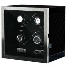 Cutie pentru intors ceasuri automatice iUni, Luxury Watch Winder 4 Negru