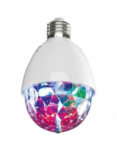Bec rotativ LED tip glob disco, E27, multicolor