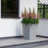 Cumpara ieftin Ghiveci patrat gri fara farfurie Keter Beton 40 cm