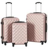Cumpara ieftin Set valiză carcasă rigidă, 3 buc., roz auriu, ABS