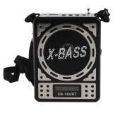 Radio FM portabil, SD/USB/MMC Mp3, design retro, ceas, Jack 3.5mm, negru, Waxiba