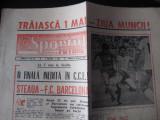 Ziarul Sportul/Fotbal (29 aprilie 1986)-Finala CCE Steaua-Barcelona (prezentare)