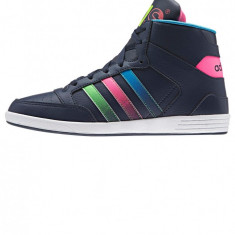 Pantofi sport inalti femei, Adidas Hoops CST STREET, albastru - 38 EU