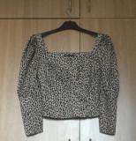 Bluză animal print cu mânecă trei sferturi Zara nouă