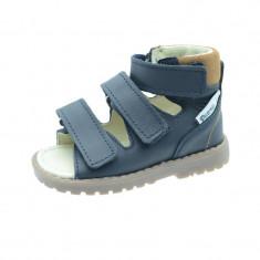 Sandale ortopedice din piele naturala pentru baieti Mrugala 1199B, Bleumarin