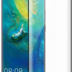 Folie Sticla Curbata Huawei Mate 20 Pro Flippy Full Glue 4D/5D Negru