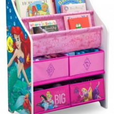 Organizator carti si jucarii Copii cu cadru lemn Disney Princess