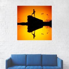 Tablou Canvas, Fantezie, Artistic, Lac rosu - 20 x 20 cm