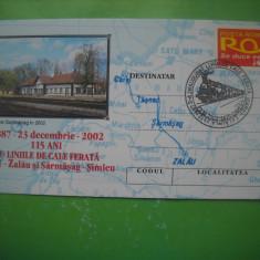 HOPCT PLIC 2483 CALEA FERATA CAREI- ZALAU-SI SARMASAG -SIMLEU 2002-GARA SARMASAG
