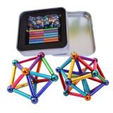 Joc compus din 36 de bare magnetice si 27 de bile metalice multicolore, peste 14 ani