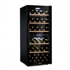 Klarstein Barossa 102D, frigider de vin, 2 zone, 102 sticle, touch LED, negru