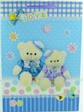 Punga pentru cadouri Midex LOVE TEDDY L03AL, Albastru