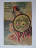 N-ai vazut niciodata Vichy,carte postala cu 10 mini fotografii pliante cca.1910, Franta, Necirculata, Printata