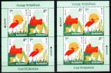 Romania 2012, LP 1938 d, EUROPA Vizitati RO, 2 blocuri de 4, MNH! LP 45,60 lei