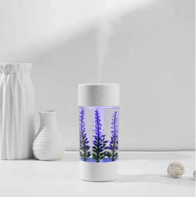 Umidificator aromaterapie E40, cu decoratiune lavanda foto