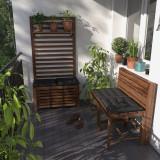 Set pentru balcon format din ladă pentru depozitare și bancă Mimo