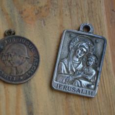 Iconita veche + medalie RPR bronz / Icoana + medalie bronz