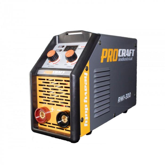 Invertor profesional Procraft RWI 300, 300 A, MMA, electrozi 1.6 - 4 mm, functii hot strat si arc force, idicator digital, IP 21