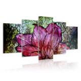 Tablou canvas 5 piese - Vitralii vitralii - 200x100 cm, Artgeist