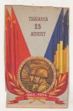 bnk cp Carte postala propaganda RPR - 23 August 1954 - deteriorata