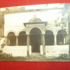Ilustrata- Fotografie - Biserica Manastirii Horezu- Valcea cu 2 Timbre de cultur
