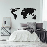 Cumpara ieftin Decoratiune pentru perete, Ocean, metal 100 procente, 121 x 56 cm, 874OCN1015, Negru