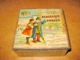 7612- Cutie veche bomboane metal Haagsche Hopjes anii 1900. Grafica deosebita.