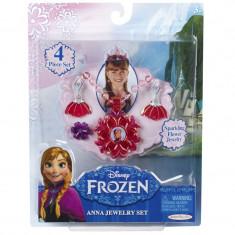 Set bijuterii pentru fetite Frozen Anna, 4 piese, 3 ani+